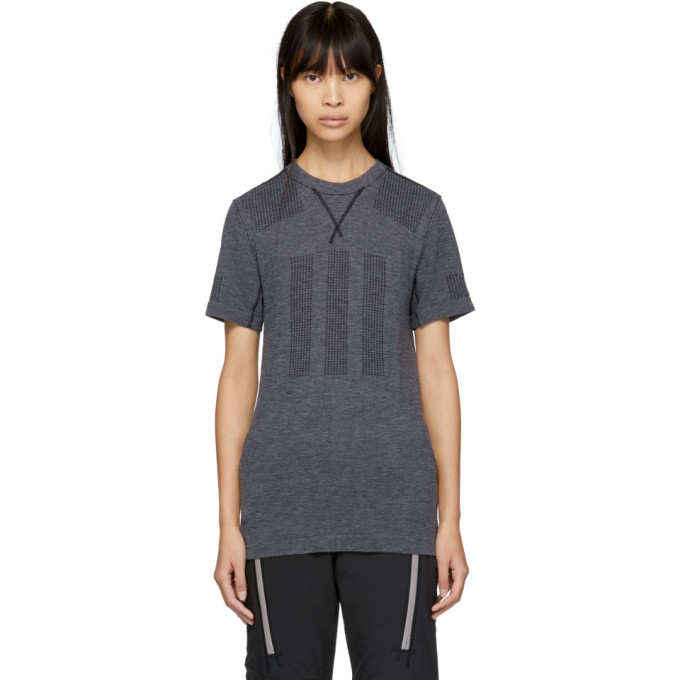 Image of adidas DAY ONE Grey Primeknit Base Layer T-Shirt