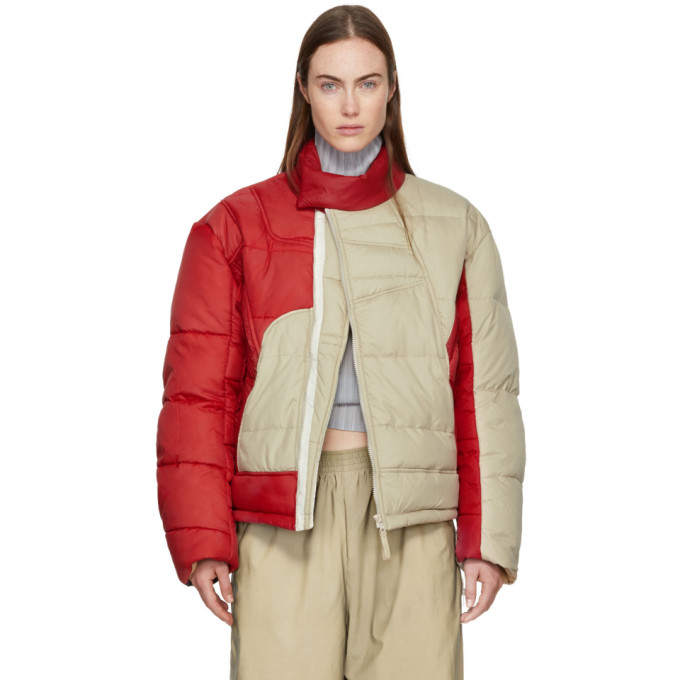 Image of GmbH Beige & Red Helly Hansen Edition Recycled Down Hans Jacket