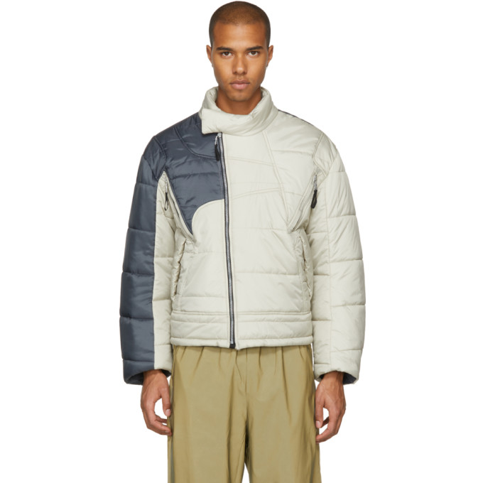 Image of GmbH Beige & Grey Helly Hansen Edition Recycled Down Hans Jacket