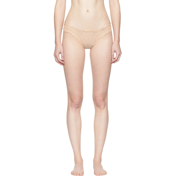 Image of Le Petit Trou Beige Margot Dots Briefs