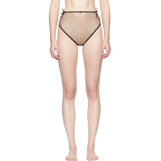 Image of Le Petit Trou Black Anastasia Dots Briefs