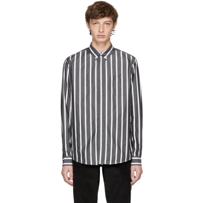 Image of Schnayderman's Black & White Bold Stripe Leisure Shirt