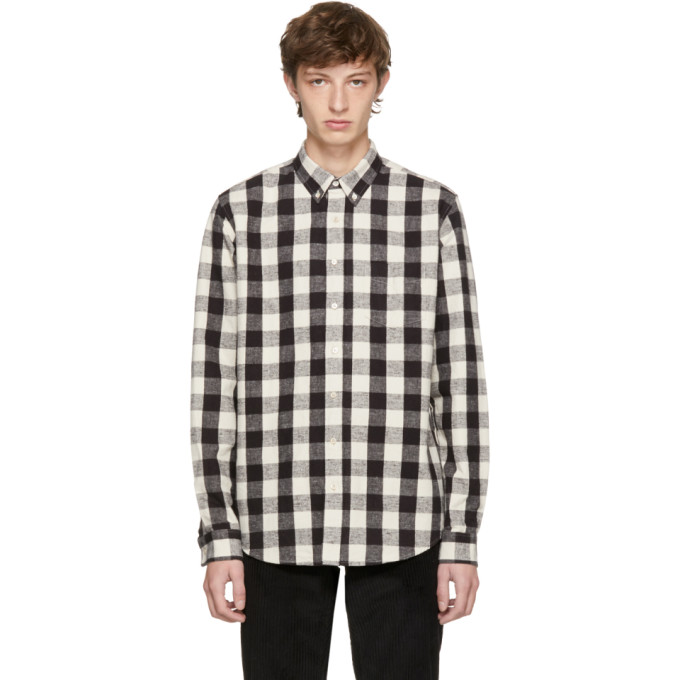 Image of Schnayderman's Black & Off-White Large Check Leisure Shirt