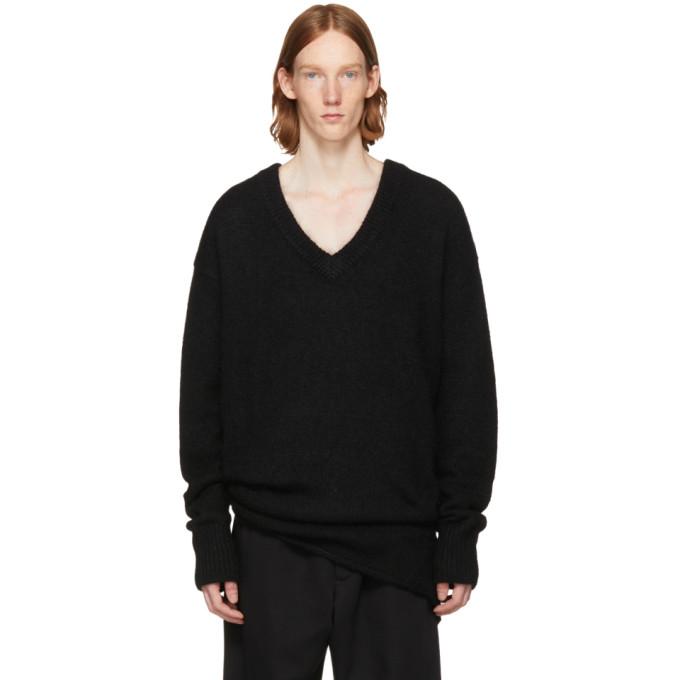 Image of HOPE Black Oversized Layered Sweater