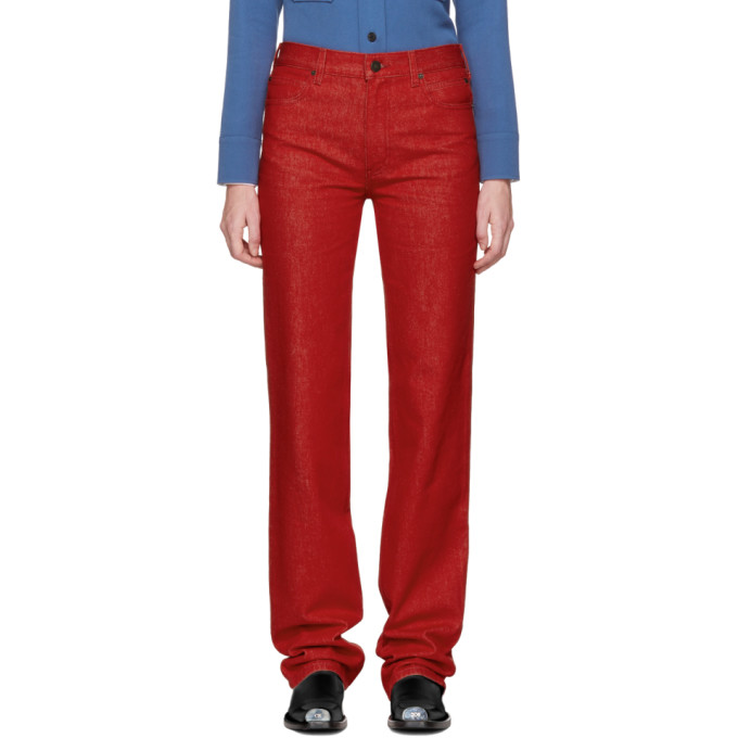 Image of Calvin Klein 205W39NYC Red Straight Jeans