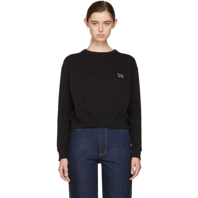 Image of Calvin Klein 205W39NYC Black Logo Sweatshirt