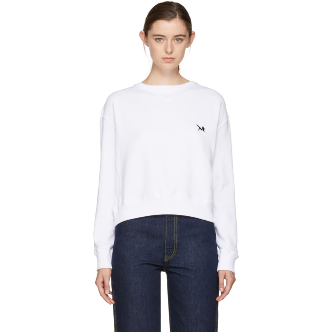 Image of Calvin Klein 205W39NYC White Brooke Sweatshirt