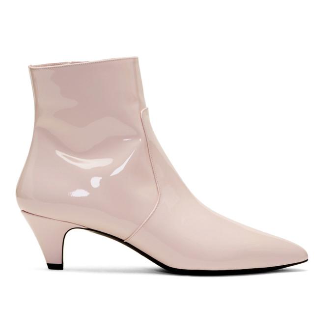 Calvin Klein 205W39NYC Pink Patent Kat Boots