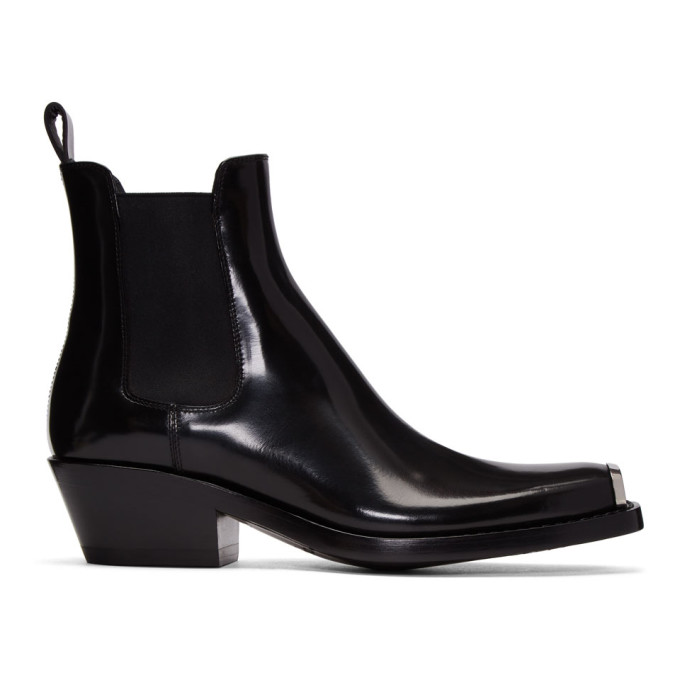 Calvin Klein 205W39NYC Black Western Chelsea Boots