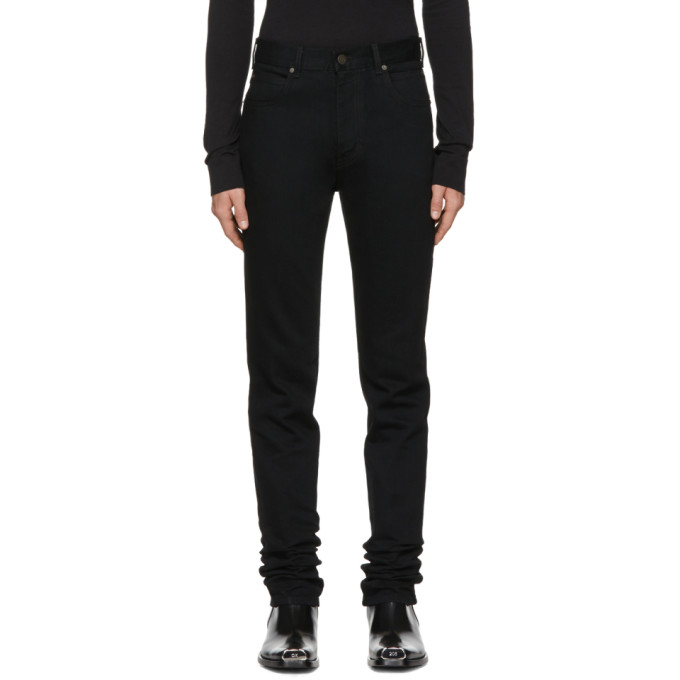 Image of Calvin Klein 205W39NYC Black High-Rise Straight Jeans