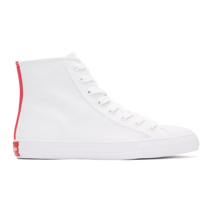 Image of Calvin Klein 205W39NYC White Constantine 135 High-Top Sneakers