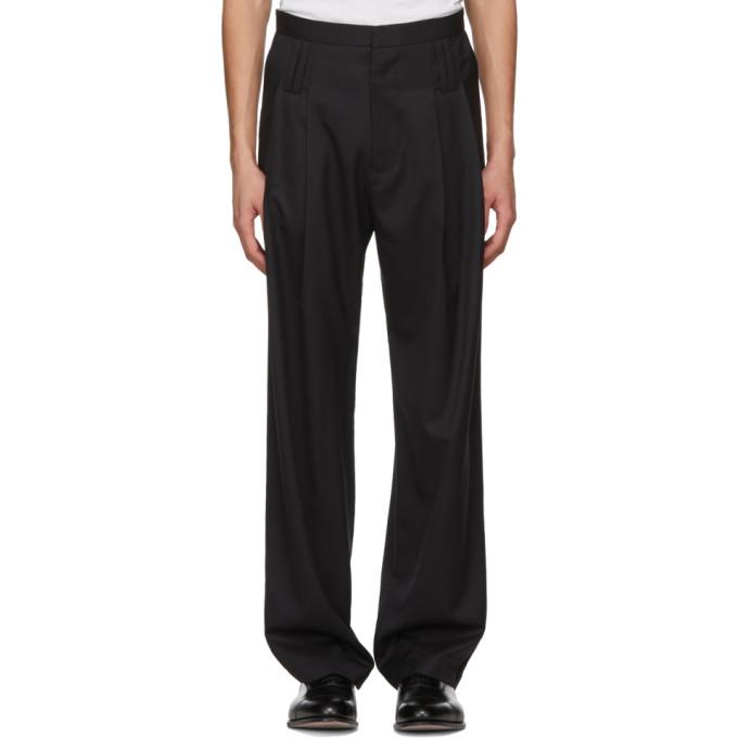 Image of Chin Mens Black Belt Loop Trousers