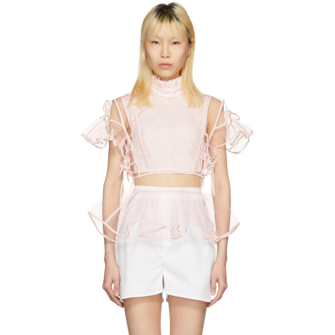 Image of Cecilie Bahnsen Pink Maja Top