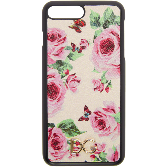 Dolce & Gabbana マルチカラー ローズ iPhone 7 Plus ケース