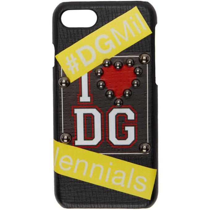Dolce & Gabbana ブラック I ハート DG iPhone 7 ケース