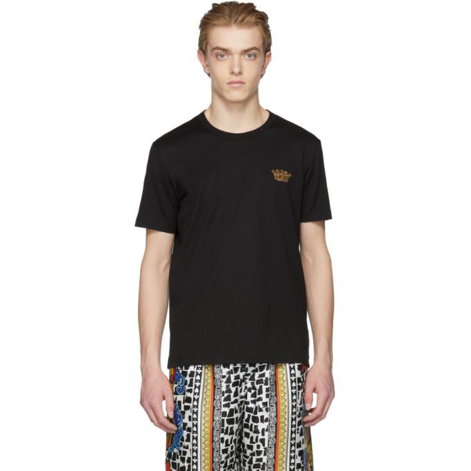 Dolce & Gabbana Black Gold Crown T-Shirt