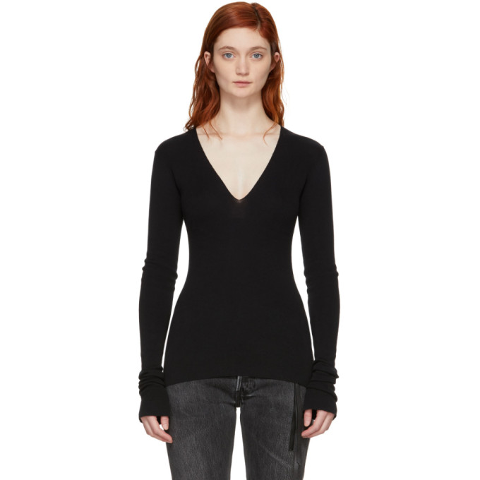 Image of Olivier Theyskens Black Kain Pullover