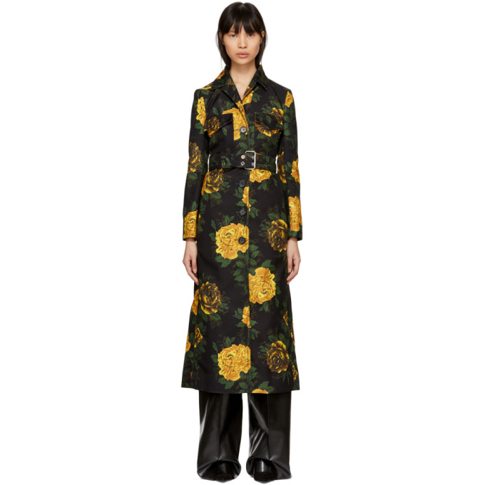 Image of Kwaidan Editions Multicolor Floral Print Trench Coat