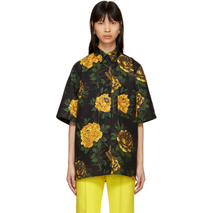 Image of Kwaidan Editions Multicolor Floral Print Oversized Shirt