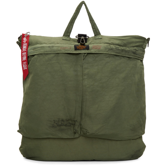 424 male 424 green alpha industries edition helmet bag