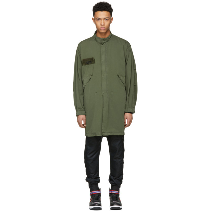 424 male 424 green alpha industries edition crewneck parka