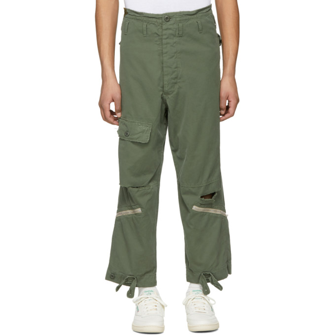 424 male 424 green alpha industries edition military cargo pants