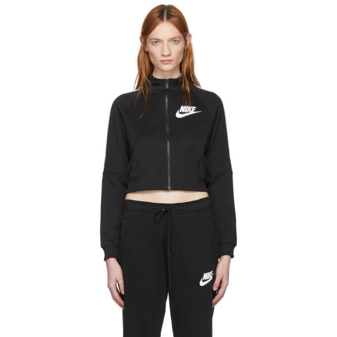 Image of Nike Black Cropped Polyknit Track Jacket