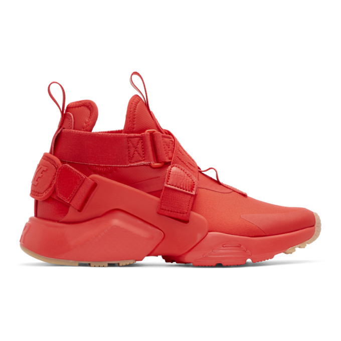 Nike Red Air Huarache City Sneakers