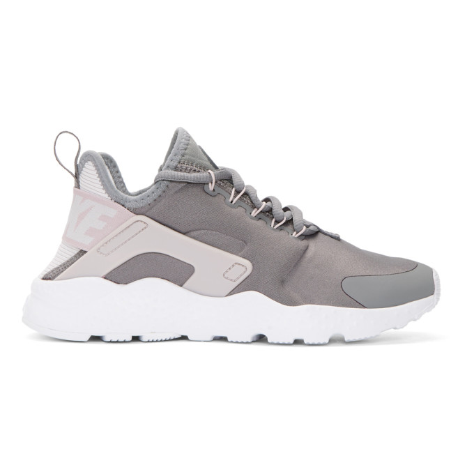 Nike Grey Air Huarache Run Ultra Sneakers
