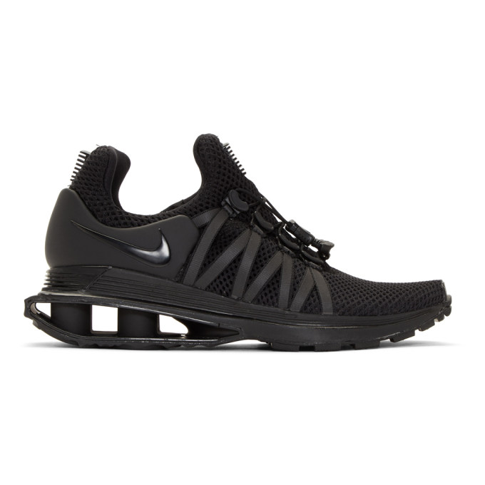 Nike Black Shox Gravity Sneakers, Black/Black