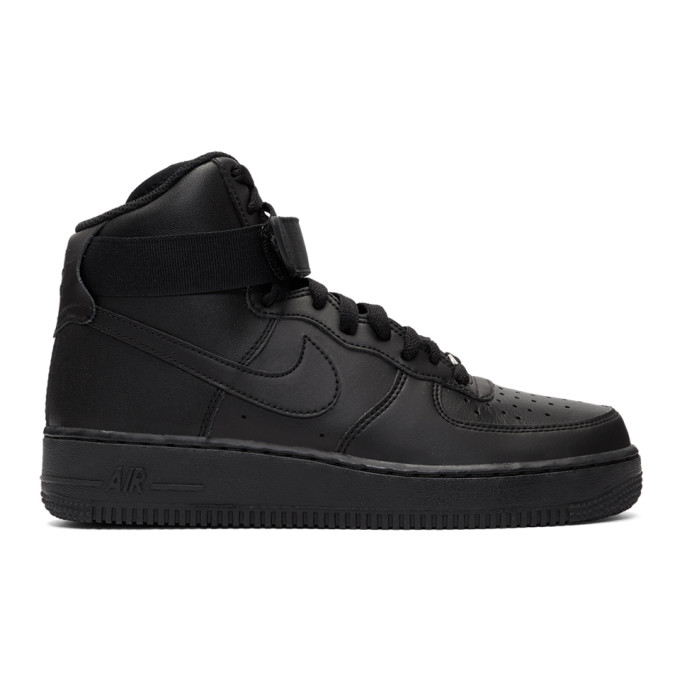 Nike Black Air Force 1 High '07 Sneakers
