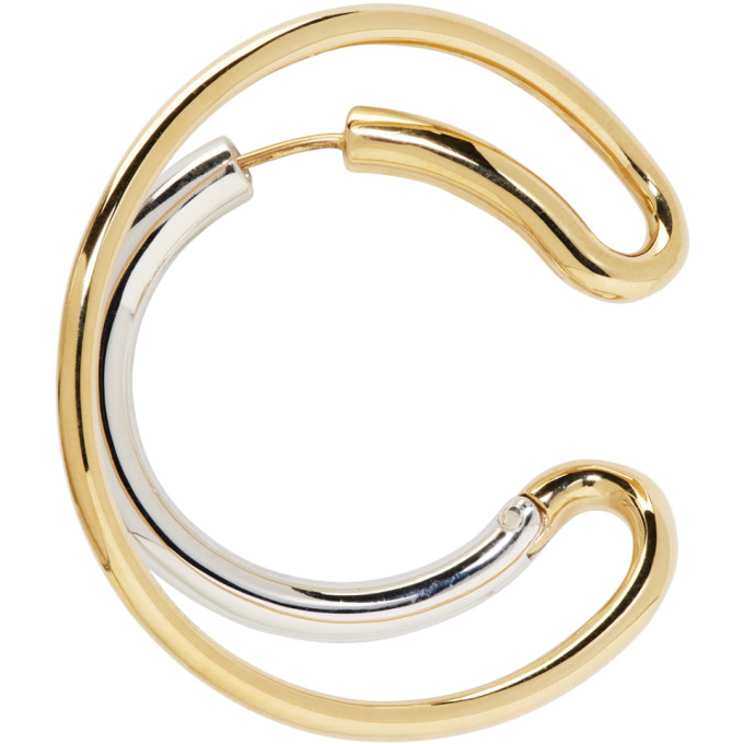 Image of Charlotte Chesnais Gold & Silver Single Large Ego Earring