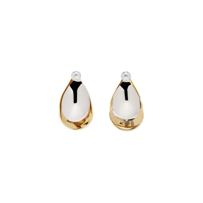 Image of Charlotte Chesnais Gold & Silver Mini Petal Earrings