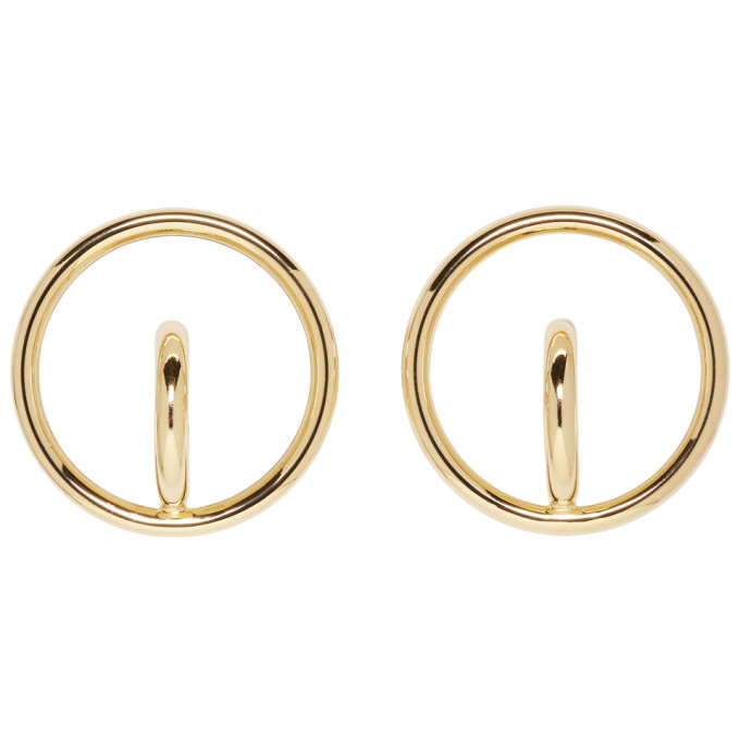 Image of Charlotte Chesnais Gold Large Saturn Blow Earrings