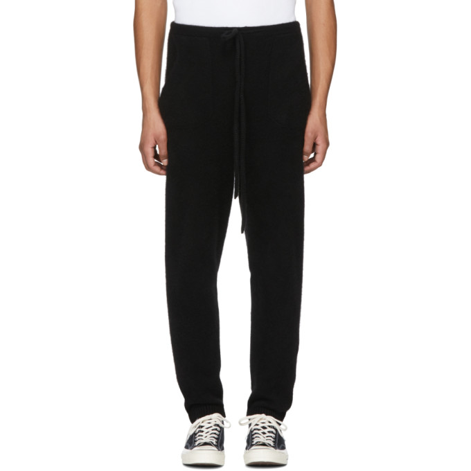 Image of The Elder Statesman Black Heavy Cashmere Lounge Pants