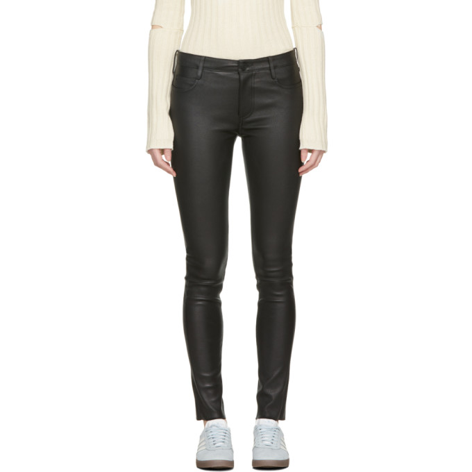Image of Mackage Black Leather Peppa Pants