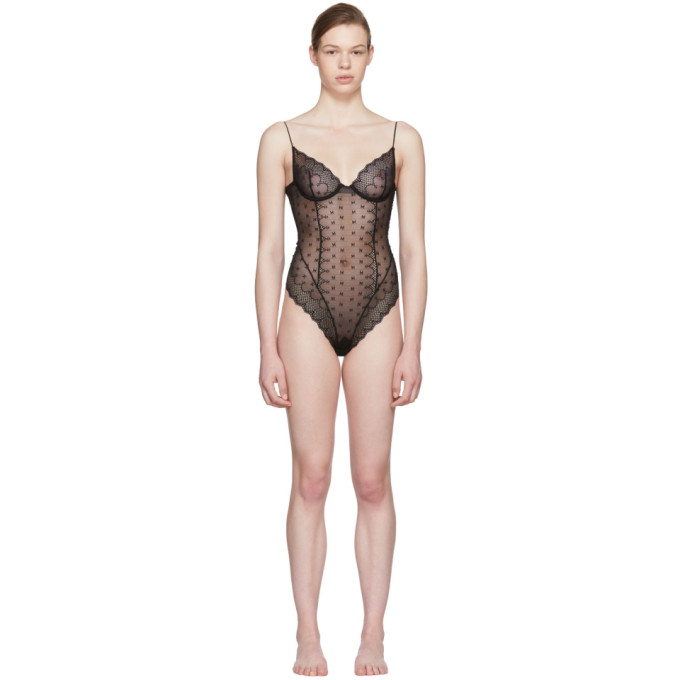 Image of Kiki de Montparnasse Black Lace Bodysuit