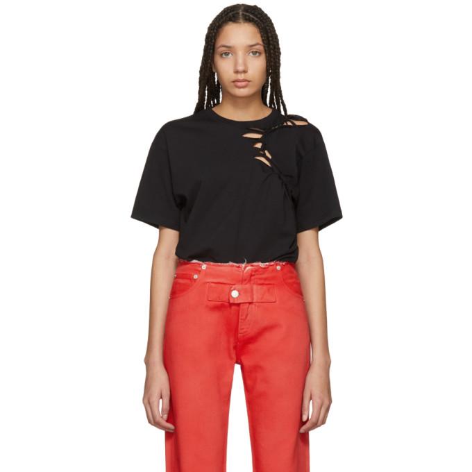 Image of Ottolinger Black Plain Simple Braid T-Shirt