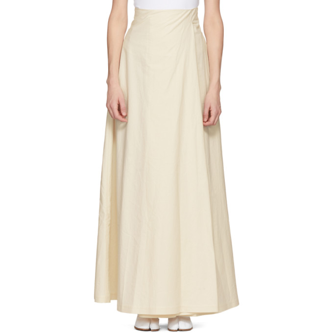 Image of A.W.A.K.E. White Wide-Leg Trouser Skirt
