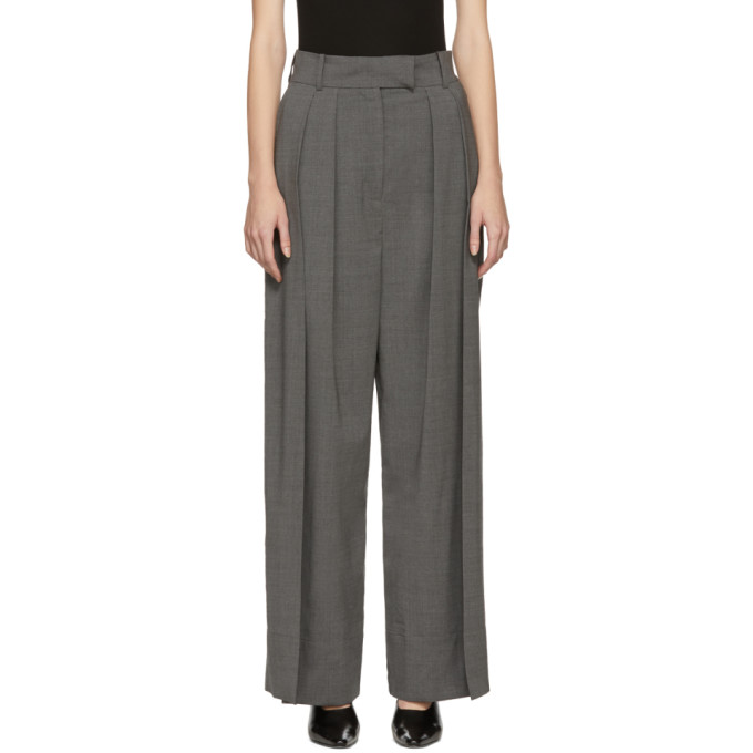 Image of A.W.A.K.E. Grey Double Pleated Trousers