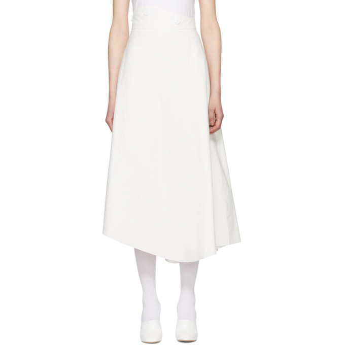 Image of A.W.A.K.E. White A-Line Skirt