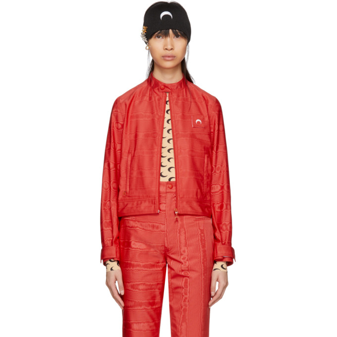 Image of Marine Serre Red Moire Cornerstones Jacket
