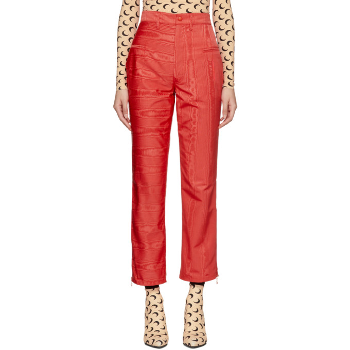 Image of Marine Serre Red Moire Cornerstones Trousers