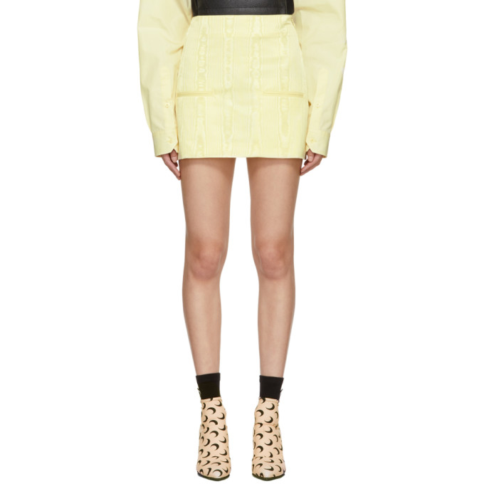 Image of Marine Serre Yellow Cornerstones Miniskirt