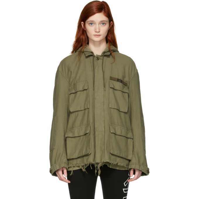 R13 Green Hooded Abu Jacket