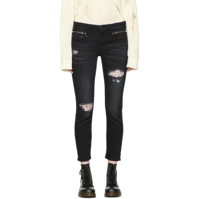 Image of R13 Black Biker Boy Jeans