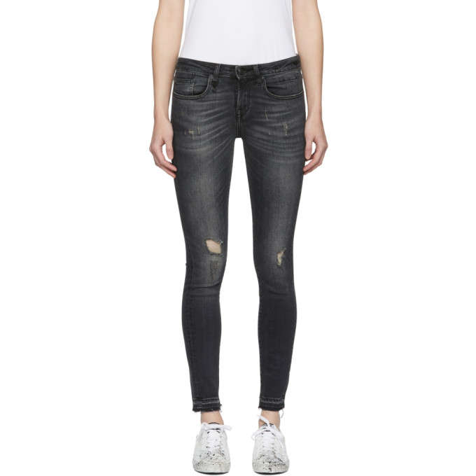 R13 Black Alison Crop Jeans