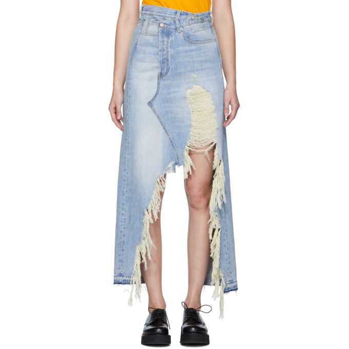 R13 Blue Denim Harrow Skirt