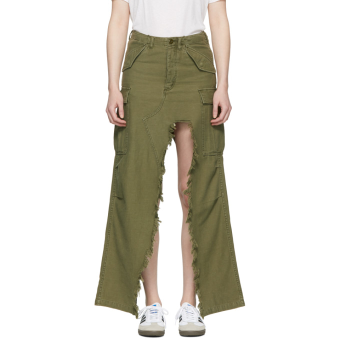 R13 Green Surplus Skirt