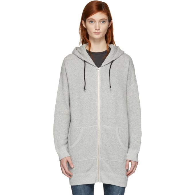 R13 Grey Long Hoodie